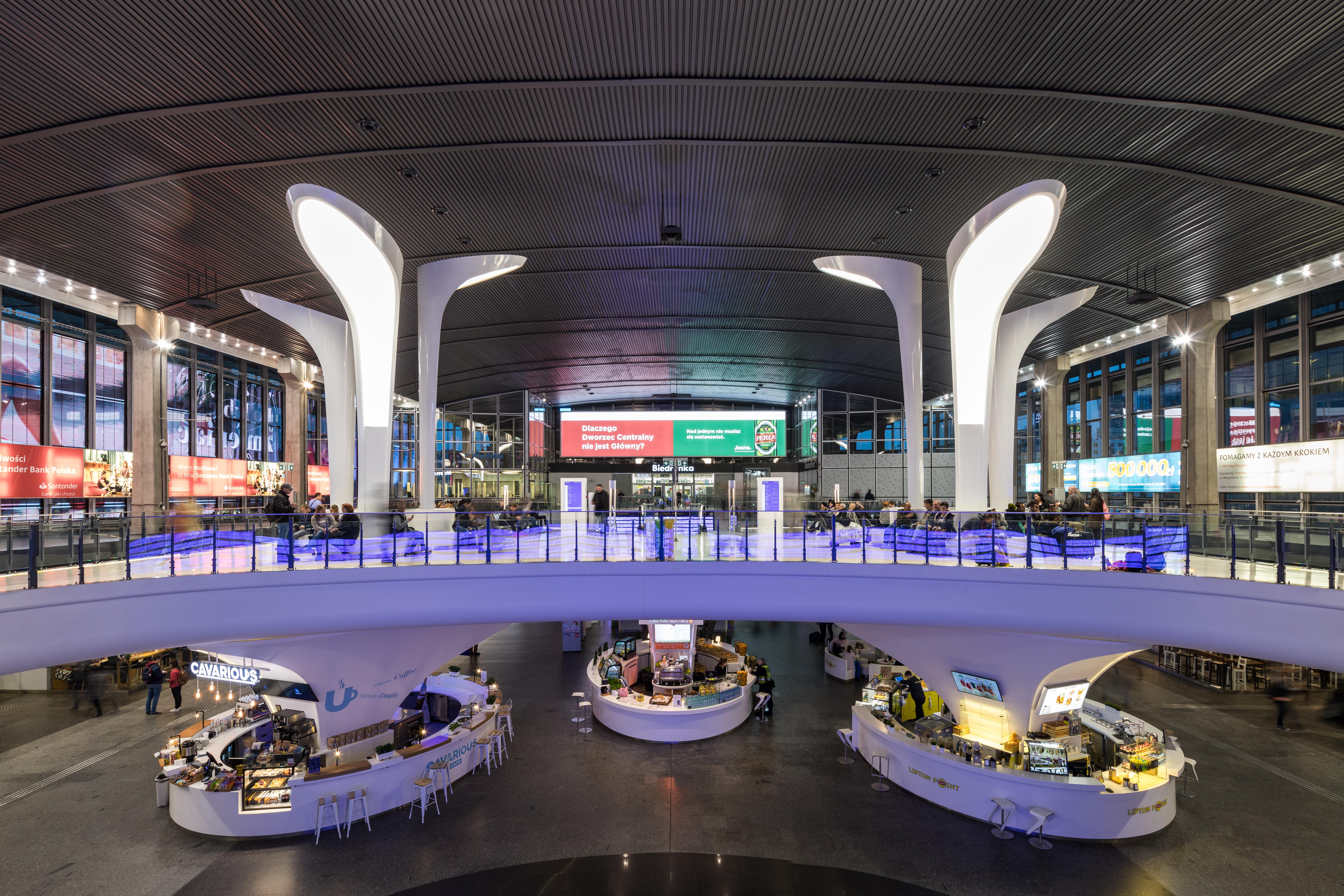 Estetyzacja wnętrza dworca centralnego w Warszawie